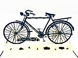 Pop Up 3D Karten Fahrrad, Glückwunschkarten inklusive Umschlag und Schutzhülle, handgearbeitet, handgefertigt, Geschenkkarte, Fahrradgutschein, Smiling Art (Fahrrad)