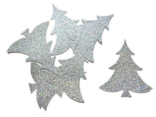 Konfetti Weihnachtsbaum Silber Glitter Tischdeo Weihnachten Party Weihnachtsfeier Dekor (handgemacht Konfetti)