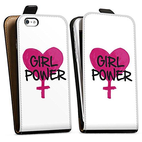 Apple iPhone X Silikon Hülle Case Schutzhülle Mädchen Girl Herz Downflip Tasche schwarz