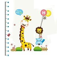 Giraffe Height Chart Measurement Design Removable Wall Sticker Decal Decor
