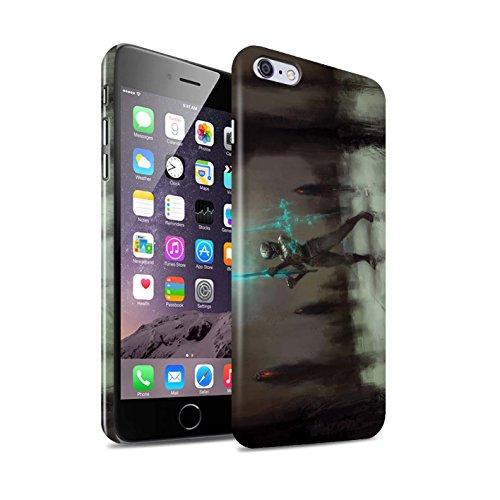 Offiziell Chris Cold Hülle / Glanz Snap-On Case für Apple iPhone 6+/Plus 5.5 / Schatten Ritter Muster / Unterwelt Kollektion Schatten Ritter