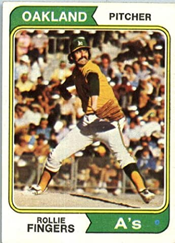 1974 Topps #212 Rollie Fingers Oakland Athletics Baseball Card In