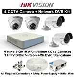 #4: Hikvision 2+2 CCTV Cameras With 4 Channel DVR Standalone Kit