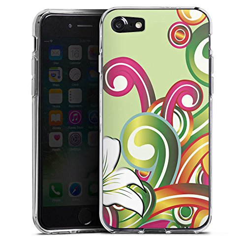 Apple iPhone X Silikon Hülle Case Schutzhülle Blume Blumenmuster Floral Silikon Case transparent