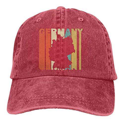 Men's/Women's Adjustable Vintage Jeans Baseball Cap Retro Style Germany Silhouette Plain Cap