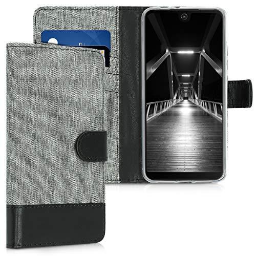 kwmobile Wiko View 2 Pro Hülle - Kunstleder Wallet Case für Wiko View 2 Pro mit Kartenfächern und Stand