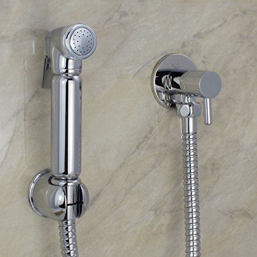 Chrome Muslim Shataff Bidet Douche Shower Toilet Spray Chromed Brass