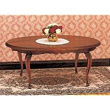 Mesa de comedor ovalada para la casa de muñecas Kit