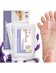 Fuß Peeling Maske, Luckyfine Baby Soft Füße entfernen Hornhaut hart tote Haut für Samtweiche Füße, 2 Paar Hornhautsocke ( Diese Fuß Peeling Maske wirkten schnell, brauchen nur 4 - 7 Tage. )