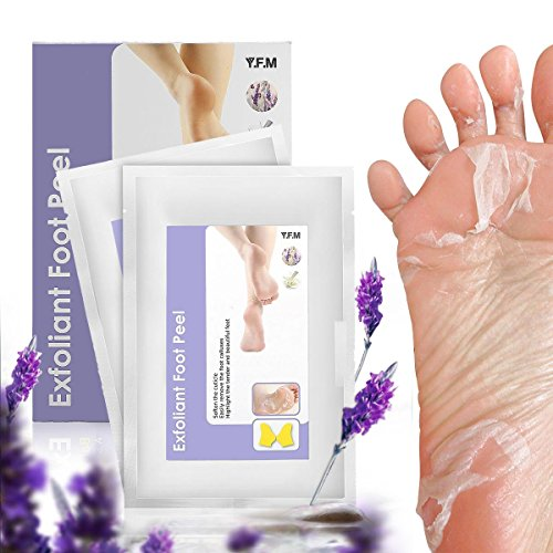 2 Pairs Exfoliating Foot Mask , LuckyFine, Mild, Soften the Cuticle, Remove the Foot Calluses,Lavender Peel Second Day Completely within 4-7 Days