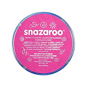 Snazaroo - Pintura facial y corporal, 18 ml, color rosa brillante
