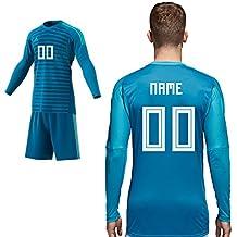 e32803ef36eb80 adidas Home Match Torwarttrikot Blau Saison 2018 2019 Herren Kinder Spieler  Name