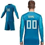 ADIDAS Home Match Torwarttrikot Blau Saison 2018 2019 Kinder Wunschname 00 Gr 152