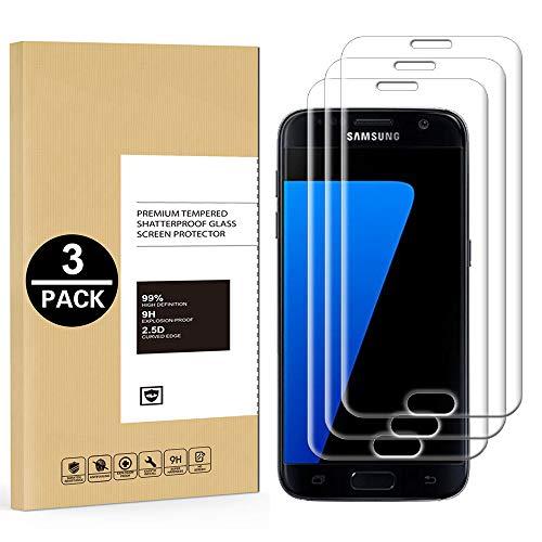Protector de Pantalla Samsung Galaxy S7 Edge, [3 Unidades] Cristal Templado para...