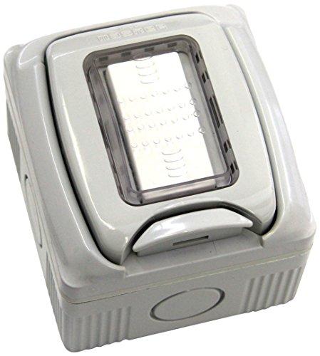 Electraline 60456 Contenitore Stagno con Deviatore, Bianco