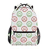 Best Emoji bookbags For Girls - Sacs à Dos Backpacks Emoji Pattern Bookbags Bag Review