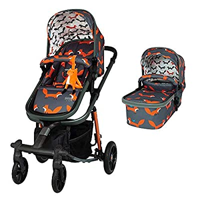 Cosatto Giggle Quad Pram & Pushchair Charcoal Mister Fox