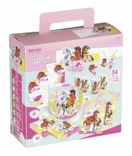 - Partykoffer Charming Horses 2, 56 teilig ()