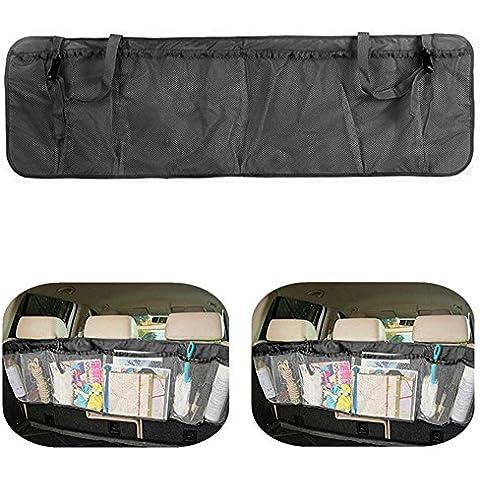 Auto Trunk Organizer ezykoo pieghevole auto Backseat Organizzatore Multi Scomparti facile da tenere articoli per la sicurezza, libri, Alimenti, bevande, strumenti