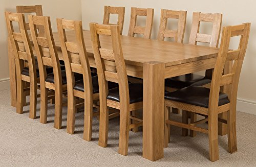 Kuba Chunky 220cm Kitchen Solid Oak Dining Table ...