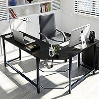 Tribesigns Eckschreibtisch Winkelkombination Schreibtisch Ecke , Gaming  Schreibtisch PC Bürotisch Computertisch Arbeitstisch Winkelschreibtisch PC  Tisch,