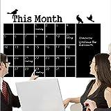 Monatsplaner Memoboard Kreidetafel Tafel Aufkleber Wandkalender für Home Office