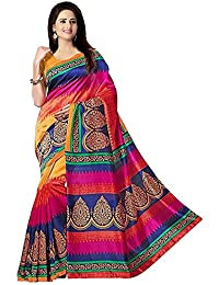 Shailaja Sarees Women's Cotton Silk Saree With Blouse Piece (Sss1173 Cs,Multicolor,Free Size)