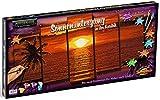 Noris Schipper 609450728 - Malen nach Zahlen, Sonnenuntergang in der Karibik, Polyptychon 132 x 72 cm, bunt
