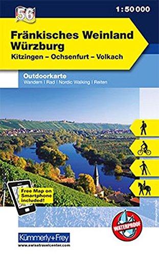 K&F Deutschland Outdoorkarte 56 Fränkisches Weinland, Würzburg 1 : 50 000: Kitzingen - Ochsenfurt - Volkach (Kümmerly+Frey Outdoorkarten Deutschland)