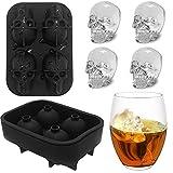 Molde de silicona 3D para cubitos de hielo, Onidoor Creative Candy Sugar Chocolate Molde Maker, Bar Whisky Cocktails Ice Make for Party, color negro, pack de 2