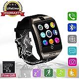 Bluetooth Smartwatch Touchscreen Kamera Intelligente Armbanduhr Sport Fitness Tracker Armband mit SIM Kartenslot/Schrittzähler /Schlafanalyse/SMS Facebook fur Android Smartphone Damen Herren Kinder (Q18)
