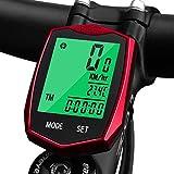 KOROSTRO Compteur de vélo étanche sans Fil avec écran LCD Backlight sans Fil Compteur kilométrique Compteur de vélo Compteur...