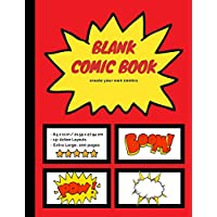 Blank Comic Book: Create Your Own Comics, Extra-Large 200 Comic Strip Pages (Comic Books)