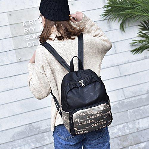 Outreo Schulrucksack Vintage Rucksack Damen Daypack Schul Schultaschen Lässige Backpack Sporttasche Rucksäcke Mädchen Freitag Tasche Weekender Bag für Reisetasche Schwarz