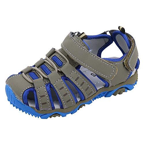 Sandalen Jungen Geschlossen Klettverschluss Sommer Kinder Schuhe OSYARD Mädchen Atmungsaktiv Strand Trekking Wanderschuhe Unisex