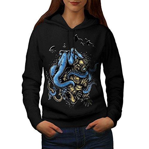 Tintenfisch Monster Horror Women S Kapuzenpullover | - Monster Halloween-burger