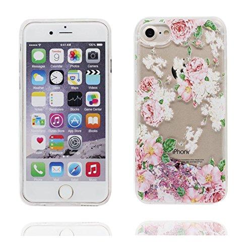 """iPhone 6S Plus Coque, Skin Hard Clear étui iPhone 6 Plus / 6S Plus, (Pink Love) Design Glitter Bling Sparkles Shinny Flowing iPhone 6 Plus Case 5.5"""", iPhone 6S Plus Cover 5.5"""" résistant aux chocs # 4"""