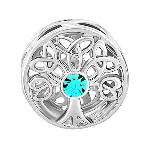 Uniqueen Fit Pandora Charms  - FINENECKLACEBRACELETANKLET   Kupfer     Cristal (Pandora Charm Geburtsstein Dezember)