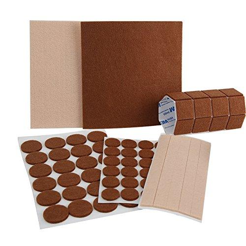 Tenn gut 79pcs Möbel Pads, selbstklebend Fasern Filzen Heavy Duty Filz für Schutz Ihrer Hartholz & Laminat (verschiedene Größen)
