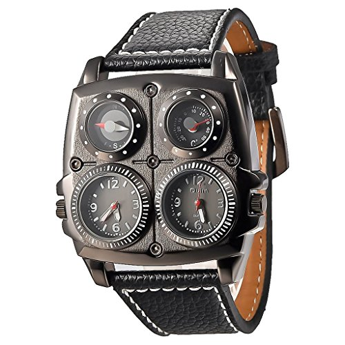 qbd-mens-large-watch-dual-time-zones-compass-thermometer-big-5cm-multi-function-dial-long-16-22cm-bl