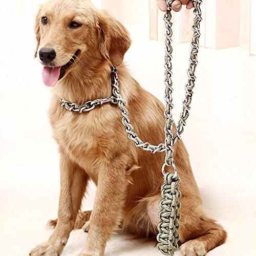 Hinzufügen von Bite-Proof lange Hund großer Hund Seil Ketten Tibet Mastiff Jinmaosamohashiqi Chow 170 * 0,6, armee grün, XL 170 * 0,6 (Mastiff Kette)
