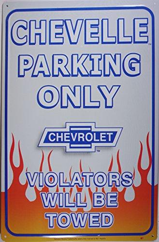 Chevelle Parking targa placca metallo piatto Nuovo 31x40cm VS1930-1