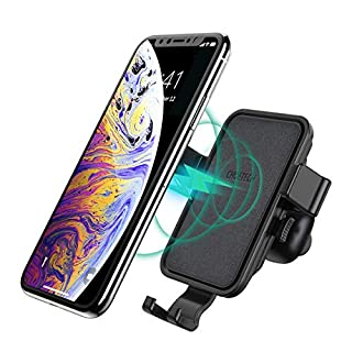 CHOETECH Fast Wireless Charger Auto Ladegerät Air Vent Mount Handyhalterung mit Diffuser, 7.5W Kompatibel mit Apple iPhone XR/XS/XS Max/X/ 8/8 Plus, 10W Fast Charge zu Note 9/S9/S9+/Note 8/S8/S7 usw.