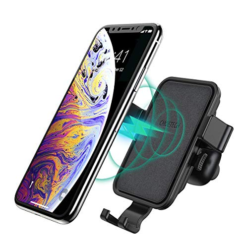 CHOETECH Caricatore Wireless Auto, Ricarica Wireless da Auto con Aroma Stick 7.5W per Apple iPhone XS/XS Max/XR/X/ 8/8 Plus, 10W per Samsung Galaxy S9/ S9 +/ S8/ S8 +/ Note 8/ Note 9/ S7/ S7 E