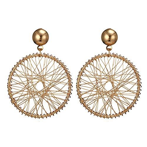 GroßEr Runder Ohrringe Damen Geometrische AnhäNger Gold Modeschmuck Lialbert MäDchen Valentinstag Geschenk (gold)
