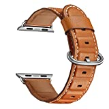 TianranRT Bracelet de rechange en cuir pour montre Apple Watch 4 40/44 mm, marron,...