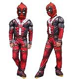Farrosig Kinder Unisex Deadpool Cosplay Kostüm...