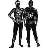 Schwarz Spiderman SuperSuit Kostüm Und Umhang - Erwachsene Unisex: Männer Und Frauen Zweite Haut | Zentai Strampelanzug Kleidung Outfit Halloween Lycra Billig