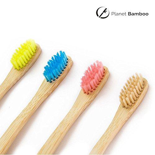 Planet Bamboo Bambus Zahnbürste für Kinder (4 Stück) - 6