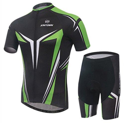 mens-ciclismo-manica-corta-mountain-bike-jersey-bicicletta-imposta-ciclismo-suit-uomo-black-green